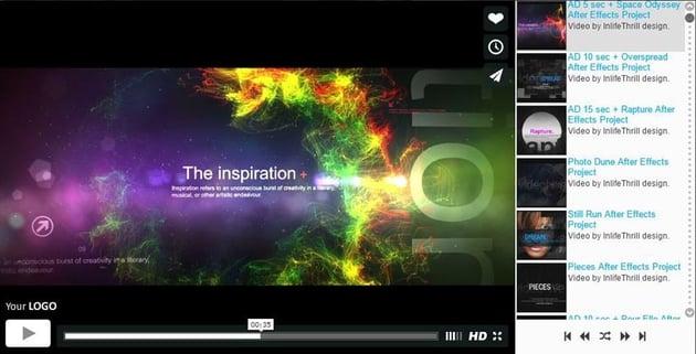 Elite WordPress video player screenshot