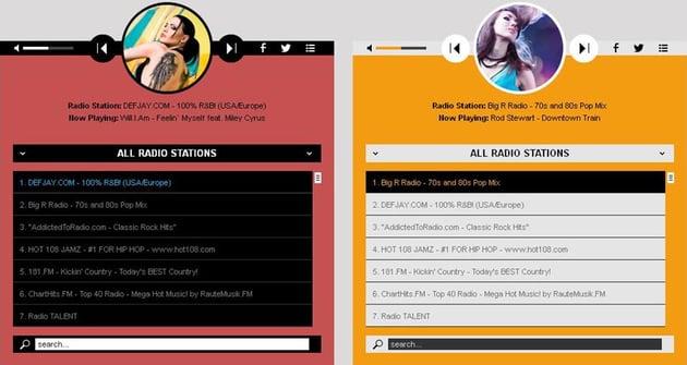 Radio WordPress audio player demo