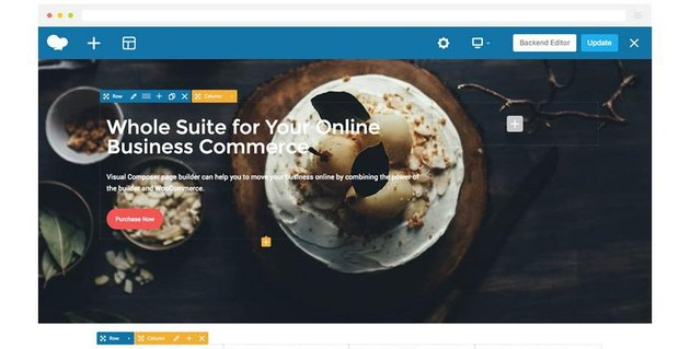Demo of a website built with WPBakery WordPress Page Builder