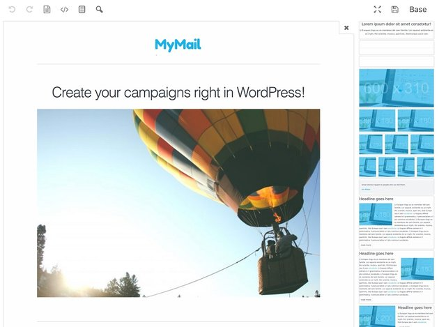 Mailster drag-and-drop template creator