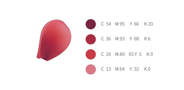 How to Draw Vector Chinese Flowers Red Peony Palette