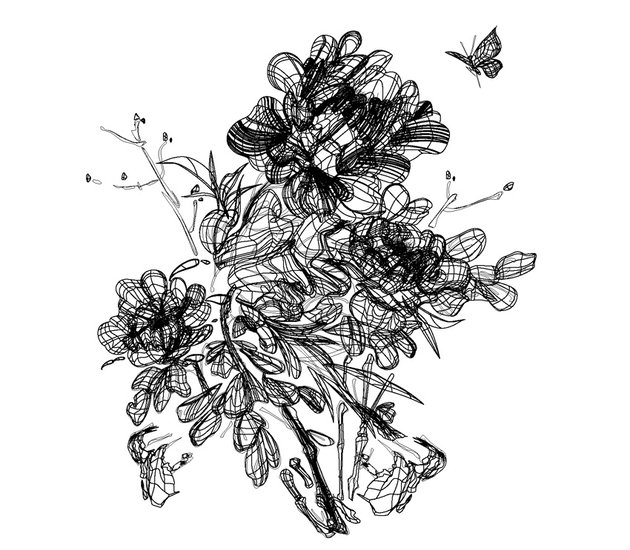 How to Draw Chinese Ink Paintings in Vector Completed all meshes