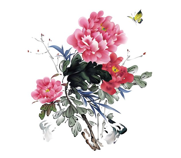 How to Draw Chinese Ink Paintings in Vector Completed