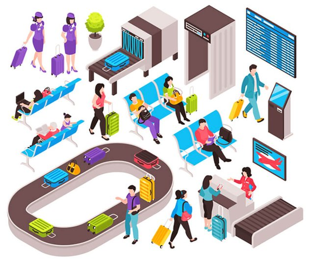 Isometric Airport Constructor Set