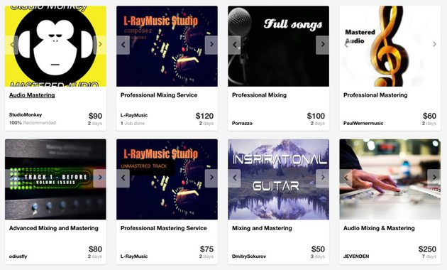 Mixing and mastering providers on Envato Studio