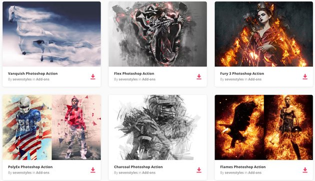 Photoshop Actions available for purchase on Envato Elements
