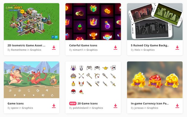 game assets on Envato Elements
