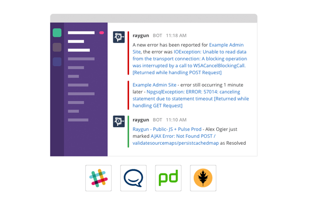 Raygun integration with chat software like Slack
