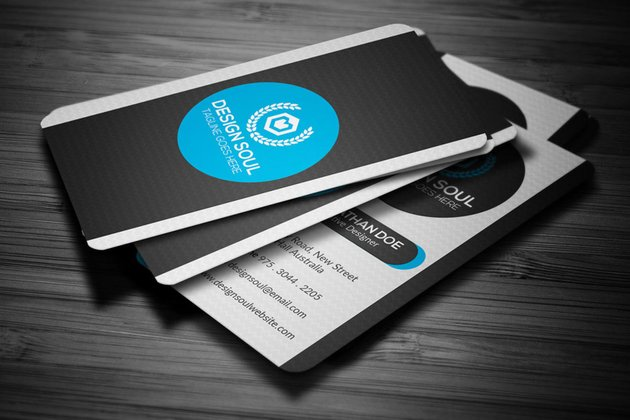corporate business card design on Envato Elements