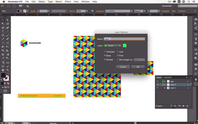 Screenshot from How to Organize Artwork With Layers and Artboards in Adobe Illustrator course
