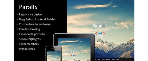 Parallax - Multipurpose Parallax Scrolling Theme.