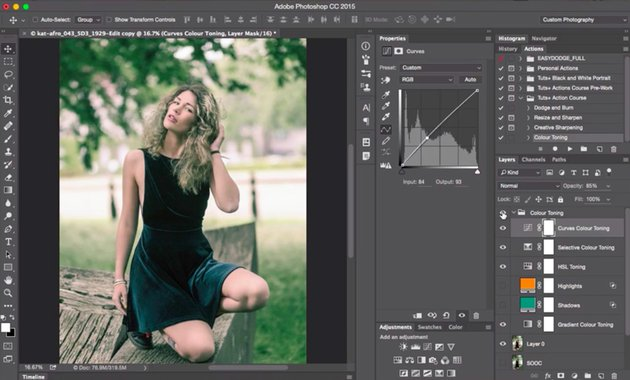 Screenshot from new Coffee Break Course Build a Custom Colour Toning Action