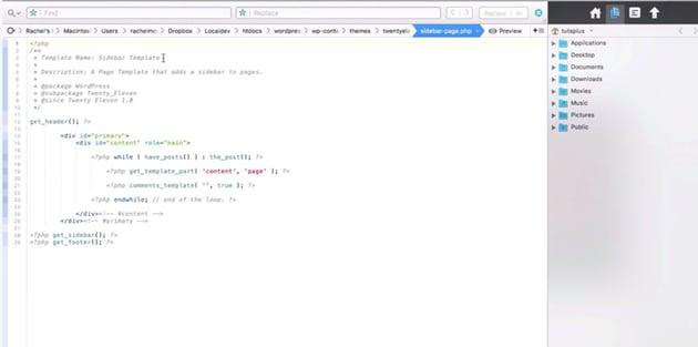 Sidebar template text in Coda