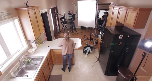 Instructional video setup showing second shooter