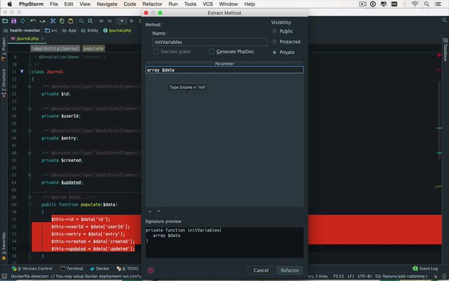 Screenshot from Get Started With PhpStorm on Envato Tuts