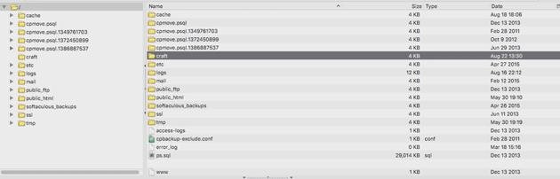 Craft public HTML folder structure