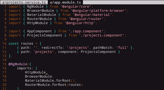 import the Http module