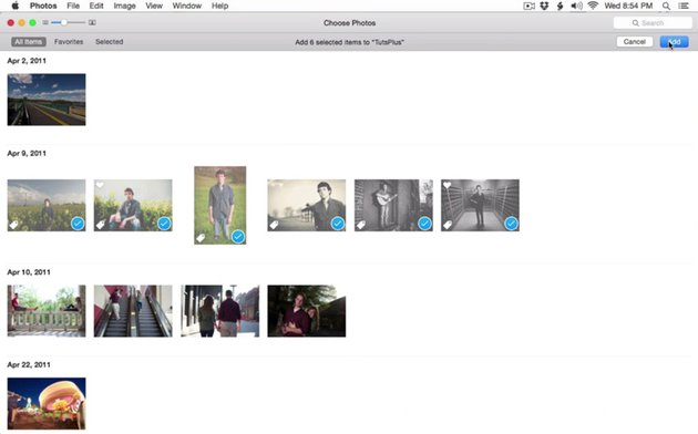 Working with albums in Apple Photos
