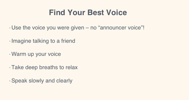 Tips for finding your best voice