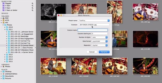Batch renaming images in Lyn