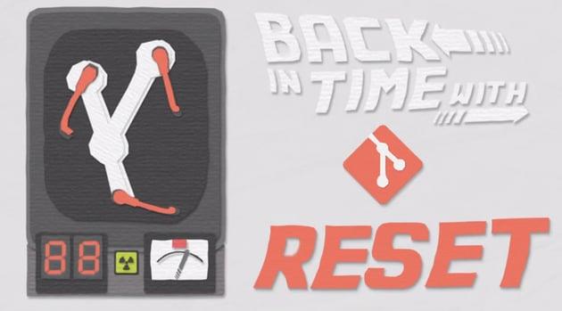 Git reset time travelling illustration