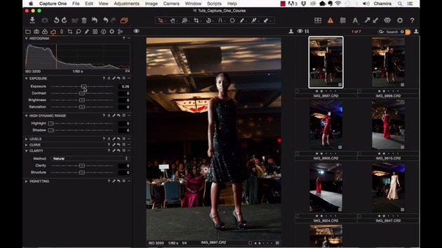 Using the histogram in Capture One