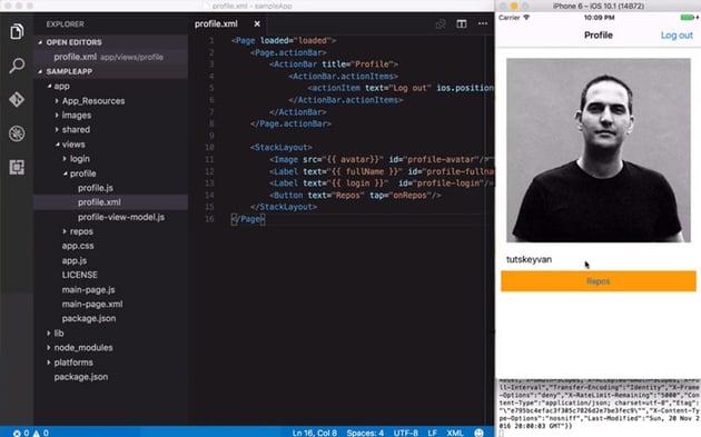 Code a Mobile App With NativeScript screenshot