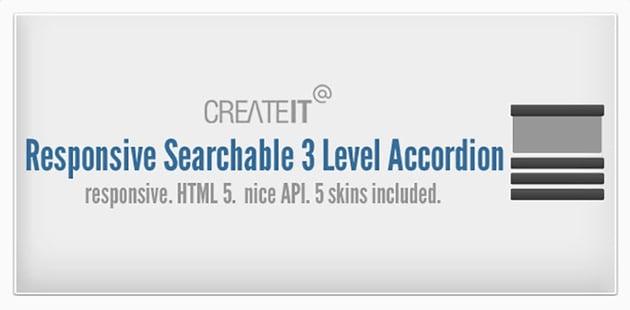 Responsive Searchable 3 Level Accordion