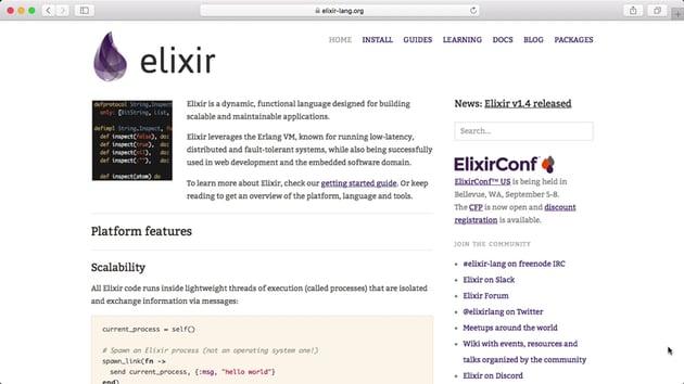 Elixir website