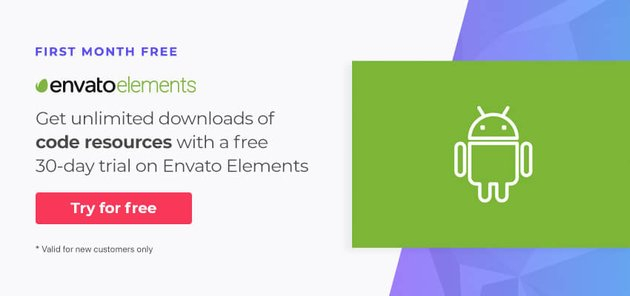 Free Android app resources on Envato Elements