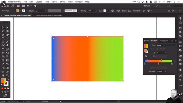 Changing the position of each colour