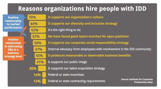 Reasons for hiring people with IDD