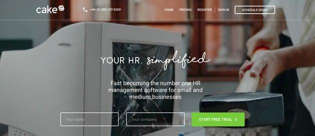 CakeHR website