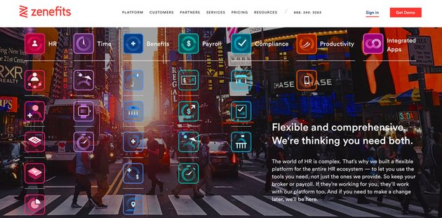 Zenefits website