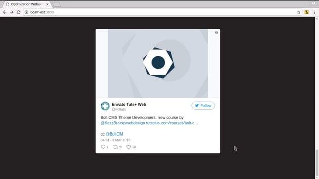 first tweet displayed as a slide