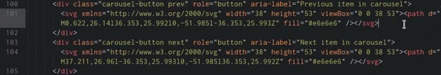 Code to add navigation buttons