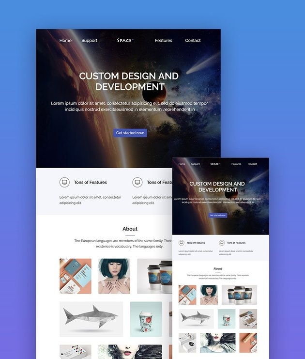 Space responsive email template