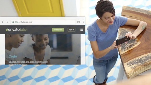 UI design embedded into Placeit stock video