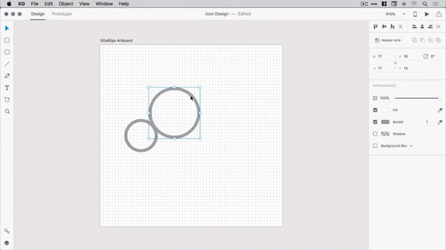 First two circles of the cloud shape