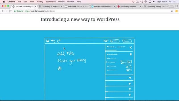 WordPress Gutenberg screenshot