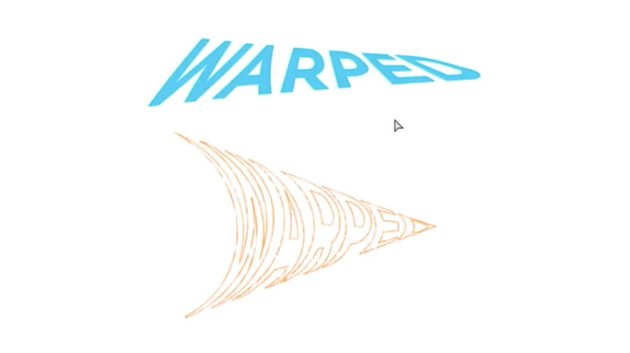 Final results of warped text in lllustrator