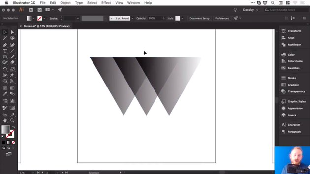 Triangles blended