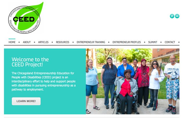 Chicagoland Entrepreneurship Education for People with Disabilities CEED project