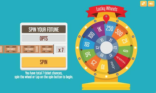 Lucky Wheel game template