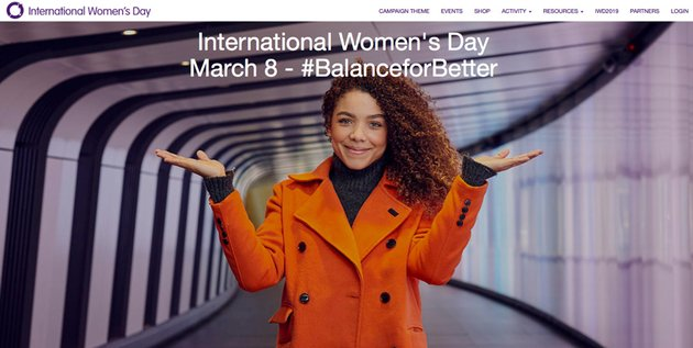 International Womens Day website