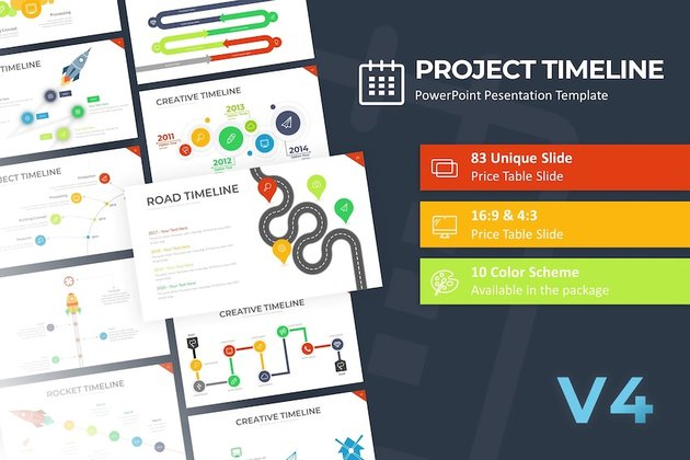 PPT project timeline template