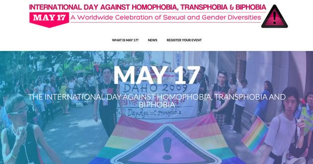 International Day Against Homophobia Transphobia and Biphobia IDAHOBIT