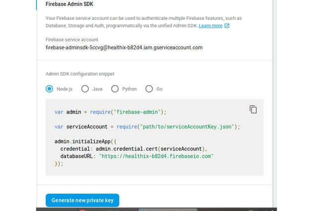 Generate new private key for Firebase