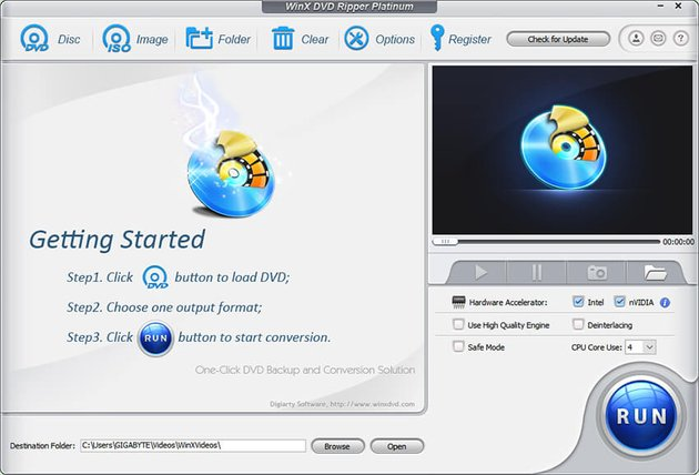 Getting started with WinX DVD Ripper