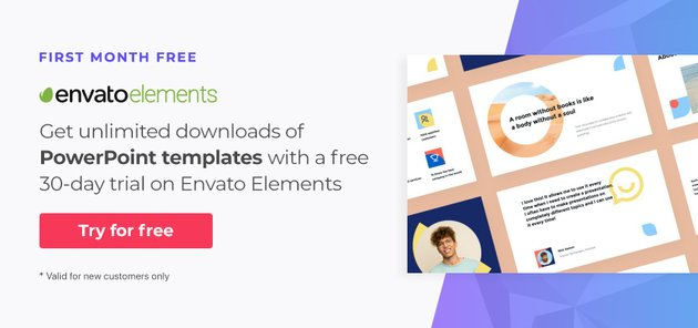 Free PowerPoint templates for 1 month on Envato Elements